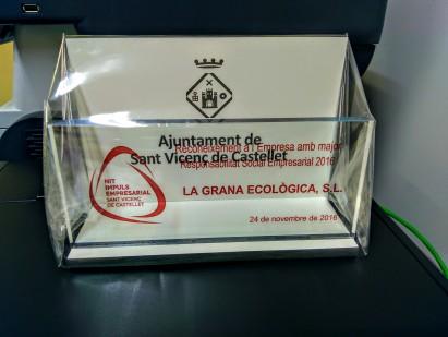 Premio Reconocimiento a la Empresa con mayor Responsabilidad Social Empresarial 2016